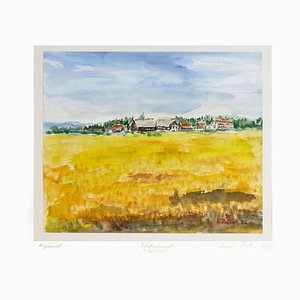 Wheat Field - Original Watercolor by Armin Guther - 1986/88 1986/88