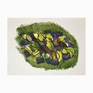 Lemon Branch - Original Lithograph by Ennio Morlotti - 1980s 1980s