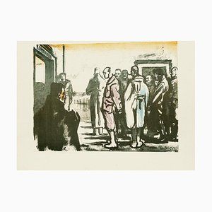 Group of Men - Original Lithograph by Anselmo Bucci - 1918 1918