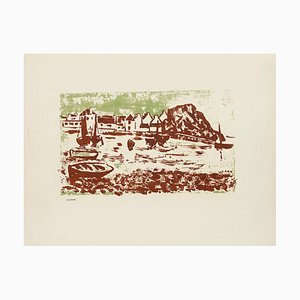 Landscape of the River - Original Lithographie von Jean Chapin - Früh 1900 1900