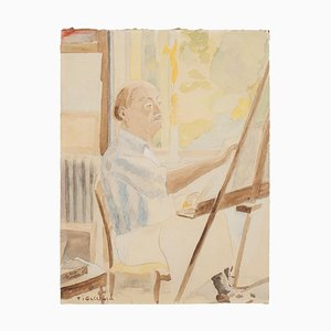 Painter - Watercolor by French Master - mid 20th Century Mid 20th Century