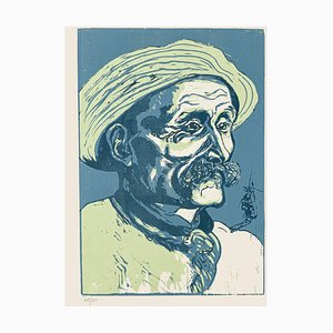 Portrait of Old Man - Original Woodcut by Giuseppe Viviani - 1927 1927