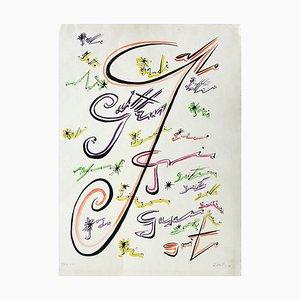 Letter G - Original Lithograph by Raphael Alberti - 1972 1972