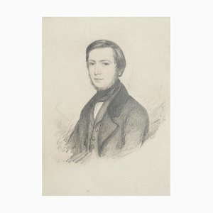 Portrait - Original Pencil Drawing - Late 19th Century Late 19th Century