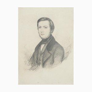 Retrato - Lápiz de dibujo original - Finales del siglo XIX Finales del siglo XIX