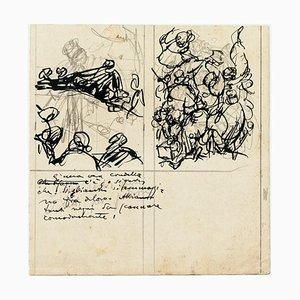 Figuren - Tinte und Bleistiftzeichnung von G. Galantara - Frühes 20. Jahrhundert Frühes 20. Jahrhundert