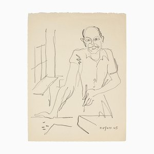 Pittore - Litografia originale di E. Hugon - 1945, 1945