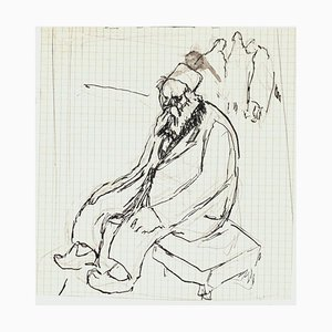 Old Man - Pen and Pencil Drawing by G. Galantara - Early 20th Century Early 20th Century