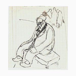 Old Man - Pen and Pencil Drawing von G. Galantara - Frühes 20. Jahrhundert Frühes 20. Jahrhundert