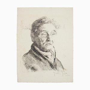Portrait - Original Lithograph by Jules Joets - Mid 20th Century Mid 20th Century