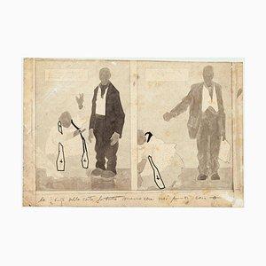Figuren - Tinte, Bleistift und Aquarell Zeichnung von G. Galantara - Frühes 20. Jahrhundert Frühes 20. Jahrhundert