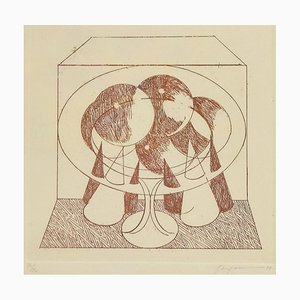 Abstract Composition - Original Etching by Danilo Bergamo - 1975 1975