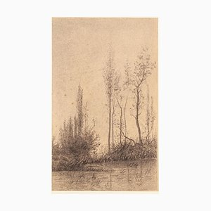 Landscape - Charcoal and Pencil by E.-L. Minet - 1919 1919