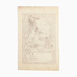 Life of Jesus - Collection of 3 Ink and Watercolor Drawings - 20. Jahrhundert 20. Jahrhundert