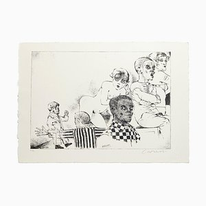 Excluded - Original Etching by Bruno Caruso - 1980s 1980s
