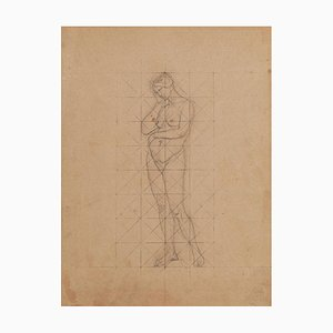 Study of Figures - Ink and Pencil Drawing by M. Dumas - Mid 19th Century 1850 ca.