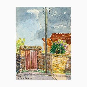 Villa - Watercolor by French Master - 1933 1933
