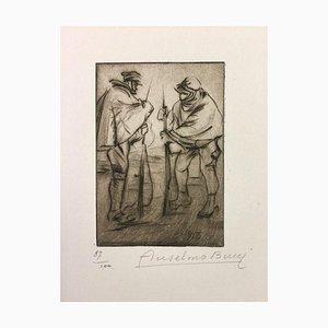 Gravure à l'Eau-Forte Le Preleve par Anselmo Bucci - 1915 1915
