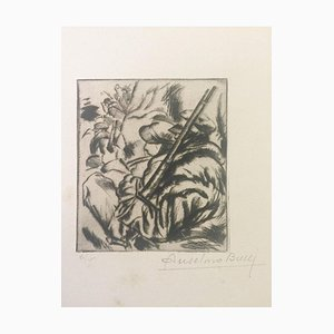 Avant l'Attaque - Original Etching by Anselmo Bucci - 1917 1917