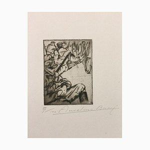 Le Long De La Route - Original Etching by Anselmo Bucci - 1915 1915