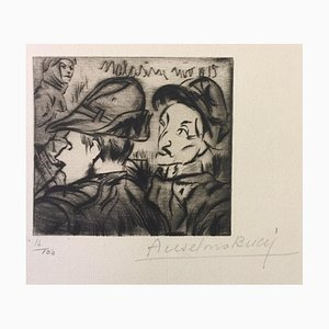 Alpino - Original Etching by Anselmo Bucci - 1917 1917