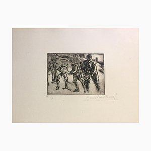 Gravure à l'Eau-Forte originale par Anselmo Bucci - 1917 1917
