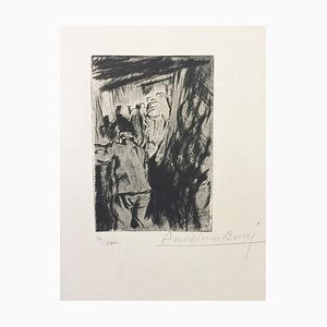 En Tranchée Ouverte - Original Etching by Anselmo Bucci - 1917 1917