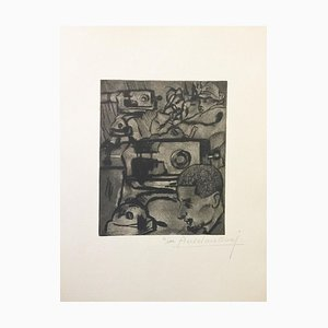 Les Mitrailleuses - Original Etching by Anselmo Bucci - 1917 1917
