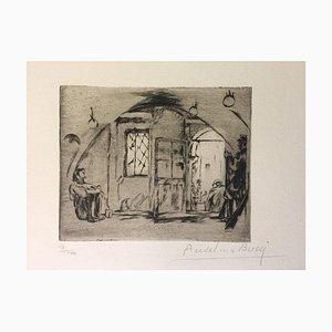 Le Poisonnier - Original Radierung von Anselmo Bucci - 1917 1917