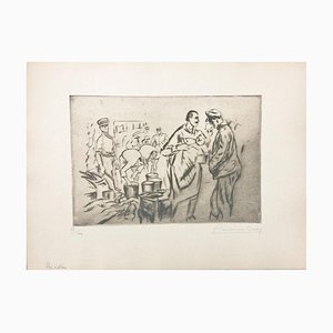 Le rata - Original Etching by Anselmo Bucci - 1917 1917