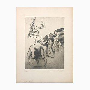 Dans La Poudrière - Original Etching by Anselmo Bucci - 1917 1917