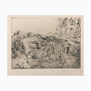 Le Reve - Original Etching by Anselmo Bucci - 1917 1917