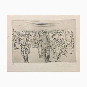 Marche - Original Radierung von Anselmo Bucci - 1917 1917