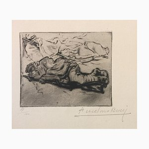 Le Froid - Original Etching by Anselmo Bucci - 1917 1917