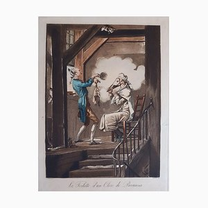 La toilette d'un Clerc de Procureur - Etching and Aquatint by C. Vernet - 1816 1816