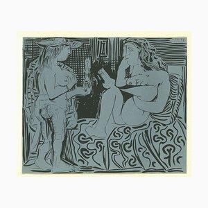 Deux Femmes - Original Linolschnitt nach Pablo Picasso - 1962 1962