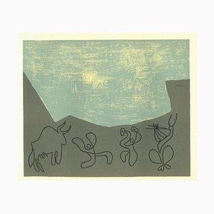 Reproduction de Bacchanale - Linogravure d'Après Pablo Picasso - 1962 1962