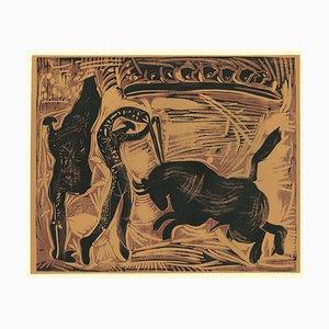 Les Banderilles - Reproduktion eines Linolschnitts nach Pablo Picasso - 1962 1962