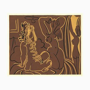 Trois Femmes - Reproduktion eines Linolschnitts nach Pablo Picasso - 1962 1962