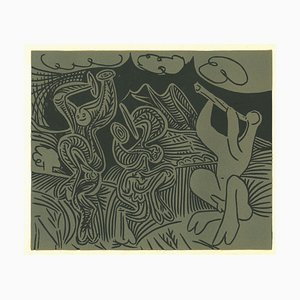 Danseurs et Musicien - Linocut Reproduction After Pablo Picasso - 1962 1962
