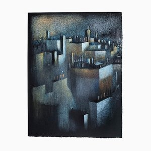 La Ville - Original Lithograph by B. Kelly - 1980s 1980s