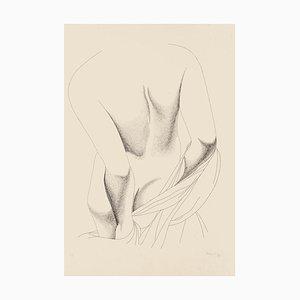 Nude from the Back - Original Etching by Giacomo Porzano - 1975 1975