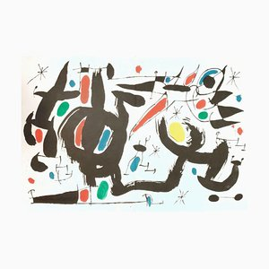 Les Essències de la Terra - Original Lithograph by Joan Mirò - 1968 1968