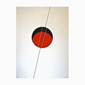 Lithographie Red Ball - Original Lithograph par Lorenzo Indrimi - 1970 ca. 1970
