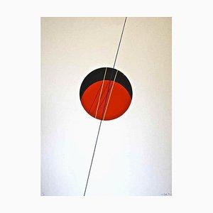 Lithographie Red Ball - Original Lithograph par Lorenzo Indrimi - 1970 ca. 1970