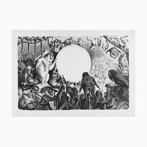 Le Caranaval des Singes - Original Woodcut by Gustave Doré - 1861 1861