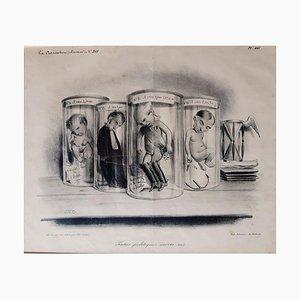 Foetus Politiques Morts-Nés - Original Lithograph by Foetus C.-J. Traviès - 1834 1834