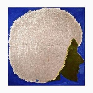Profile in Blue - Original Etching by Giacomo Porzano - 1972 1972