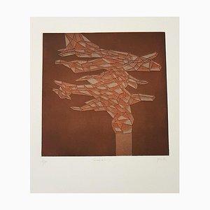 Tamarancio - Original Lithograph by Achille Perilli - 1971 1971