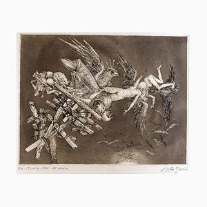Collapse - Original Etching by Leo Guida - 1975 1975
